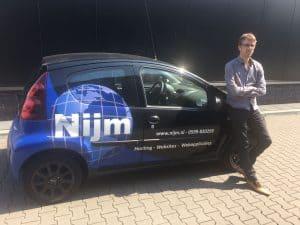 Arjan Nijmeijer van NIJM Webdesign & Hosting bij de Nijmmobile