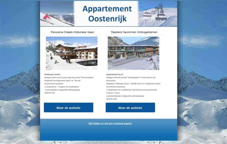 Appertement Oostenrijk