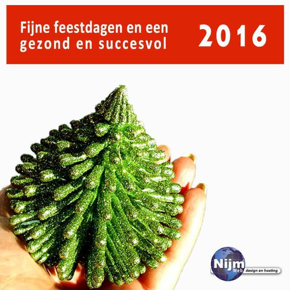 Wij wensen iedereen fijne feestdagen en een succesvol 2016