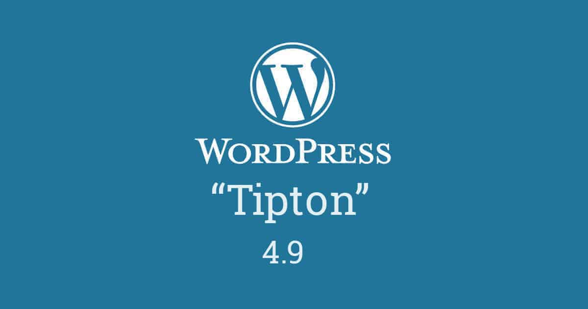 "WordPress 4.9 ""Tipton"""