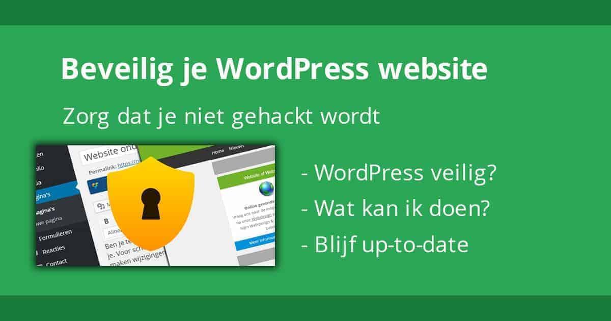 Hoe beveilig ik mijn WordPress website?