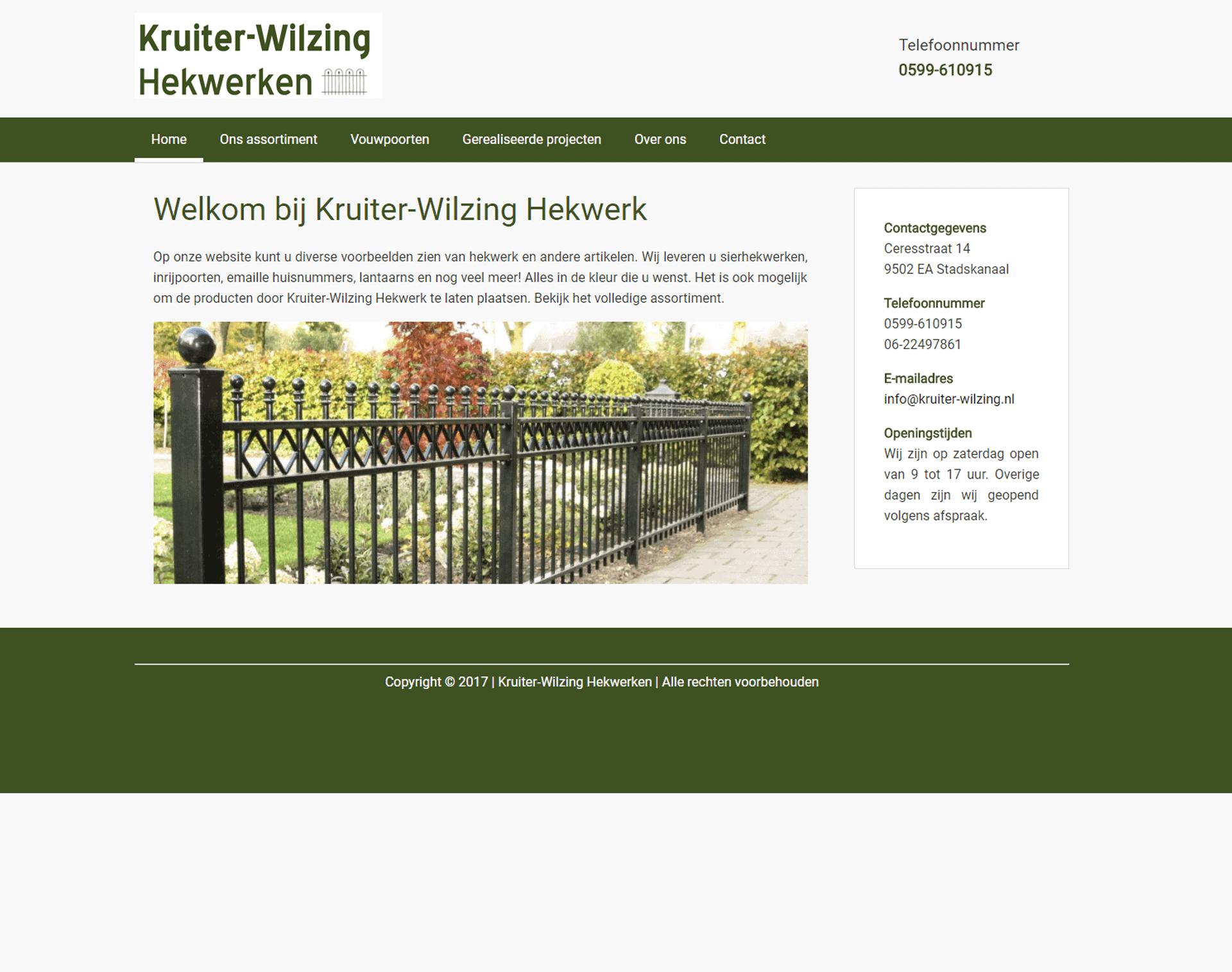 Kruiter-Wilzing Hekwerken