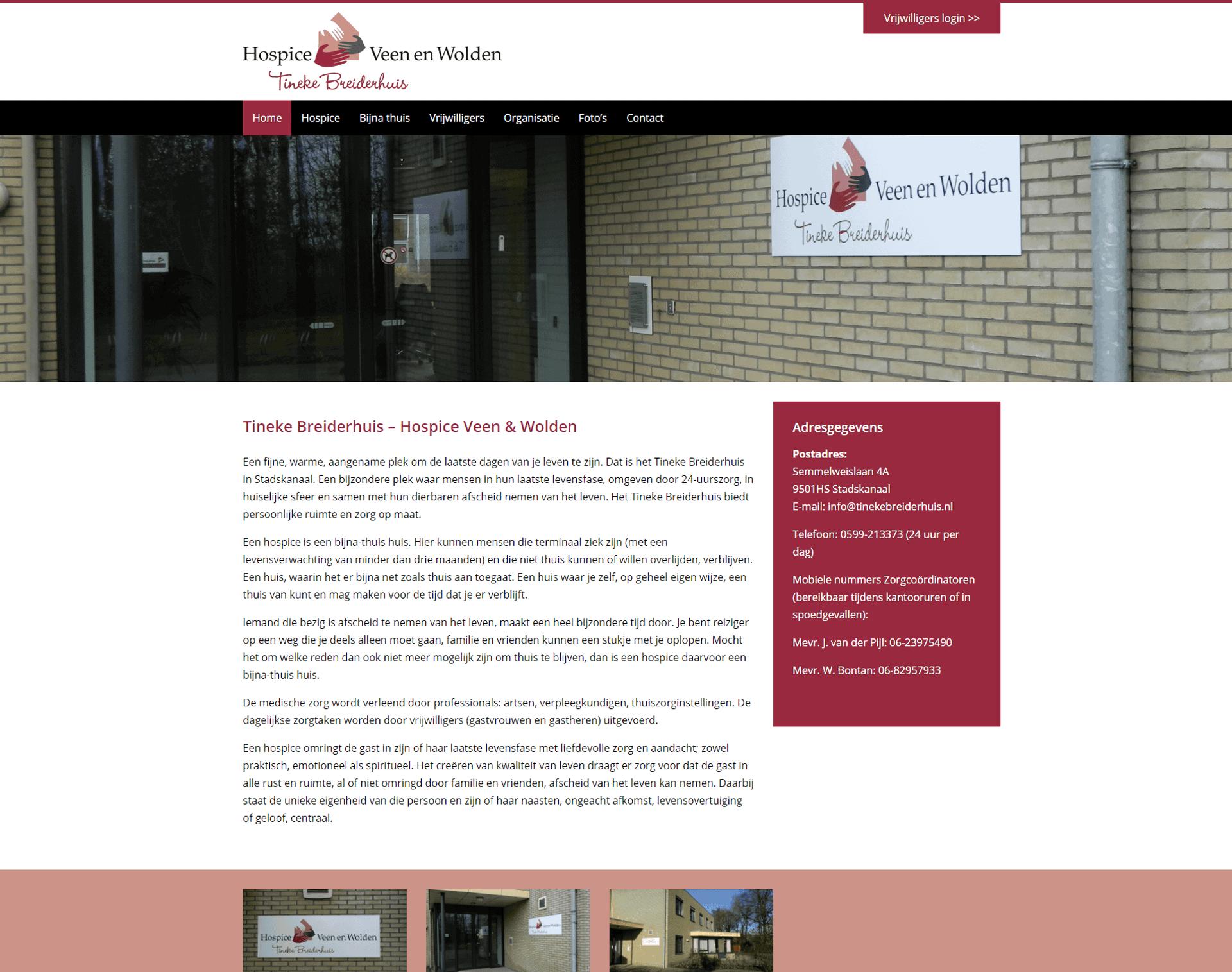 Hospice Veen en Wolden Tineke Breiderhuis