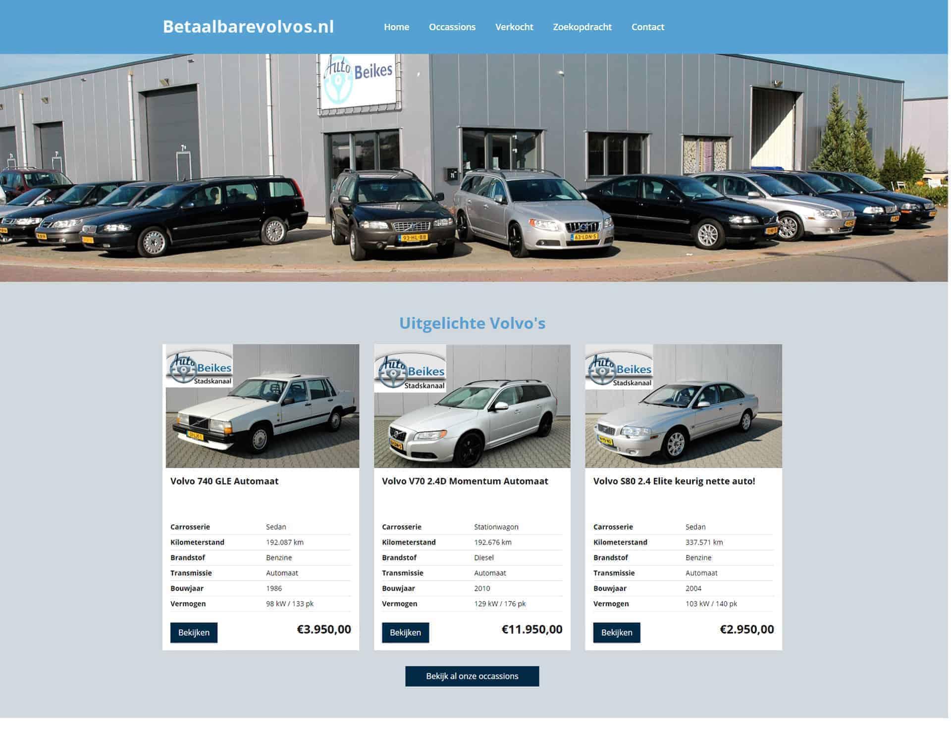 Betaalbare Volvos