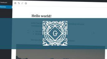 Gutenberg Editor komt eraan