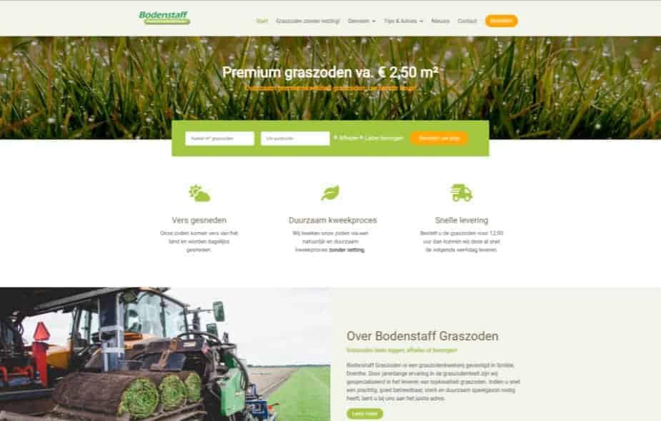 Bodenstaff Graszodenkwekerij